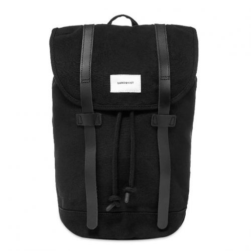 Mens Sandqvist Stig Backpack in Black