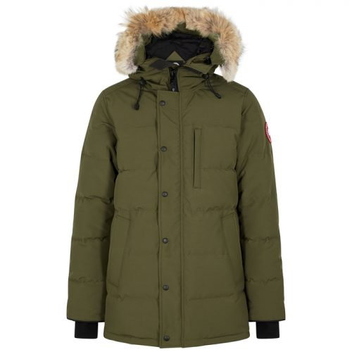 Mens Canada Goose Carson Fur-trimmed Arctic-Tech Parka Jacket in Olive