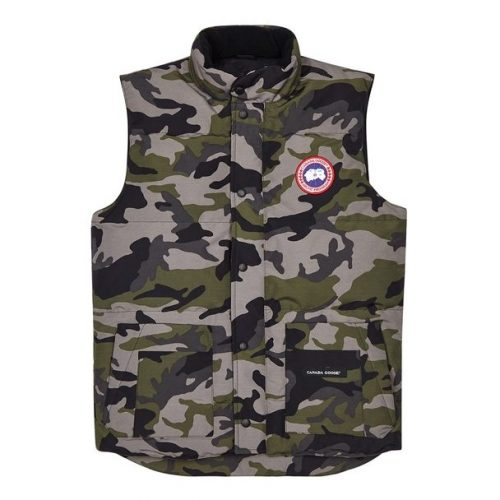 Mens Canada Goose Freestyle Arctic-Tech Shell Gilet Jacket in Camo