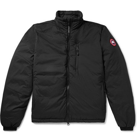 Mens Canada Goose Lodge Nylon-ripstop Down Jacket in Black