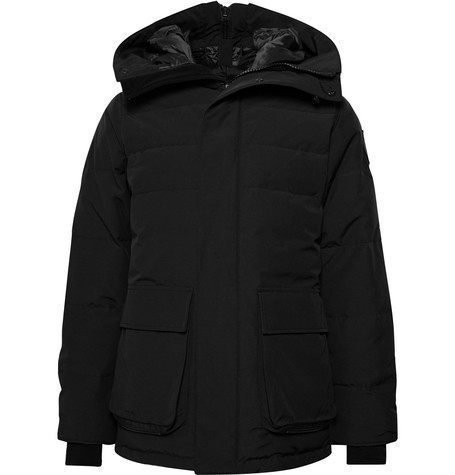 Mens Canada Goose Wedgemount Quilted Arctic Tech Hooded Down Parka Jacket in Black