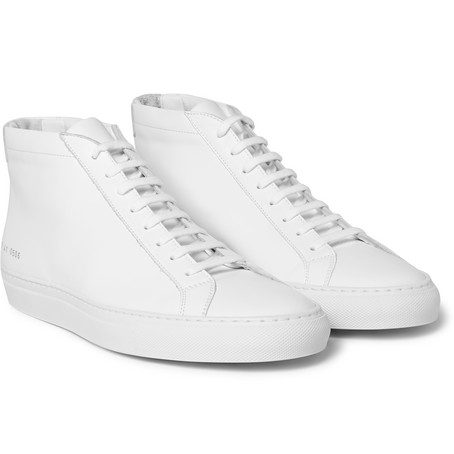 Mens Common Projects Original Achilles Leather High-top Sneakers in White