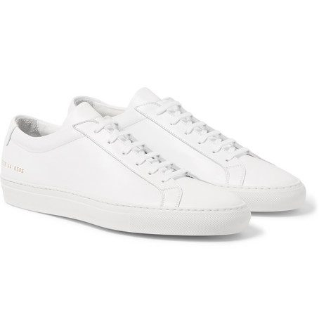 Mens Common Projects Original Achilles Leather Sneakers in White