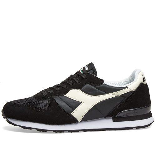 Mens Diadora Camaro Sneakers in Black & White