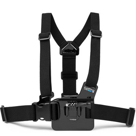 Mens GoPro Action Camera Chest Harness in Black