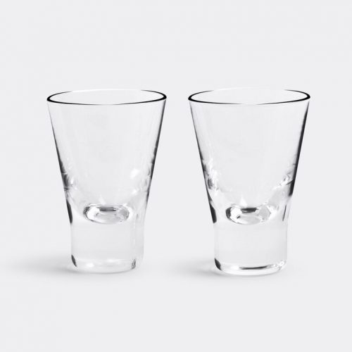 Mens Iittala Aarne Aquavit Glass, Set of 2 in Transparent Glass