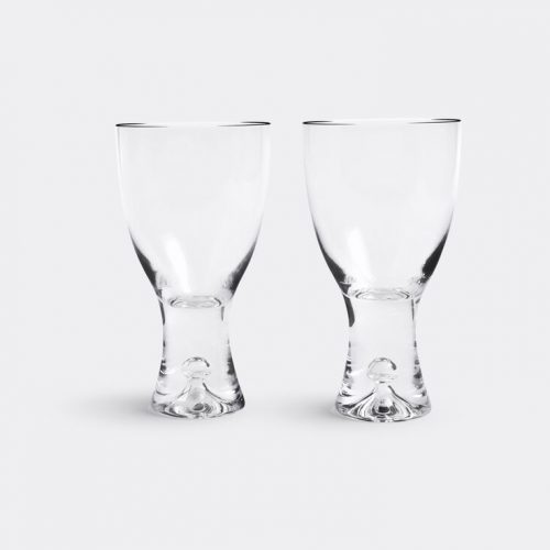 Mens Iittala Tapio Goblet Glass, Set of 2 in Transparent Glass