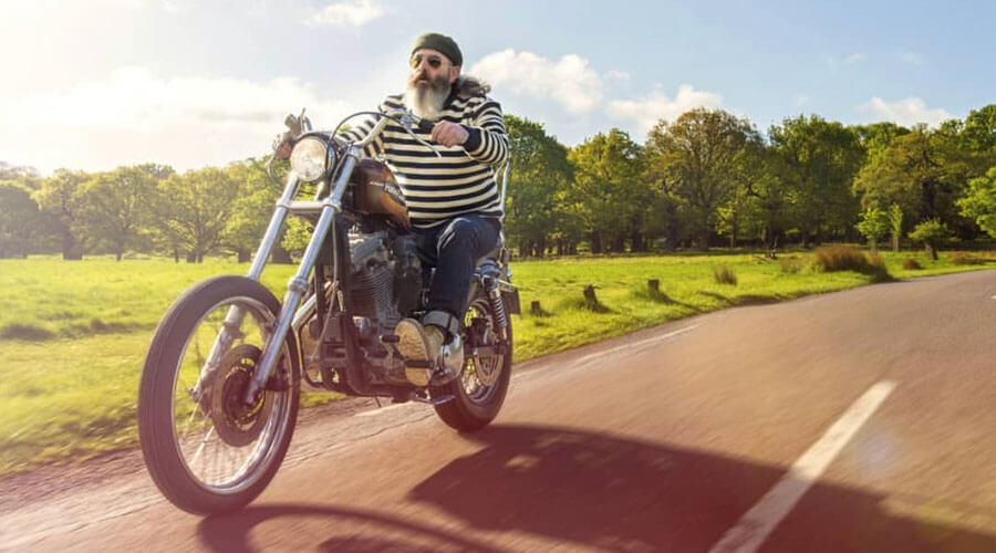 John Mullan From Mr Mullans Apothecary Riding His Classic Harley Davidson Motorcycle | SEIKK Magazine