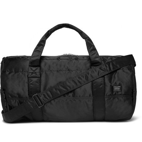 Mens Porter Yoshida & Co Tanker 2way Boston Nylon Duffle Bag in Black