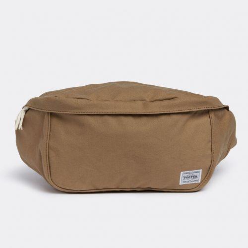 Mens Porter Yoshida & Co Beat Waist Bag L in Beige