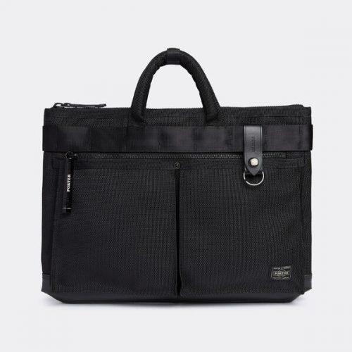 Mens Porter Yoshida & Co Heat Briefcase Bag in Black
