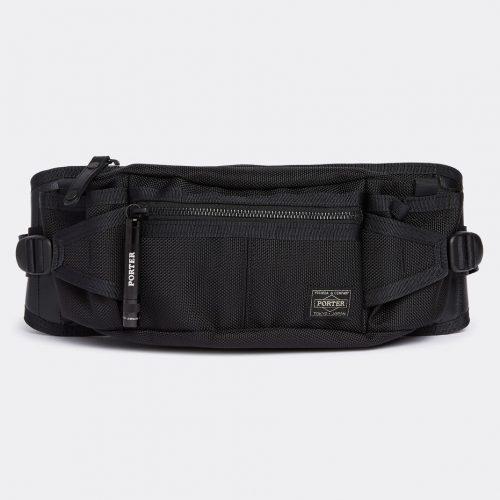 Mens Porter Yoshida & Co Heat Waist Bag in Black