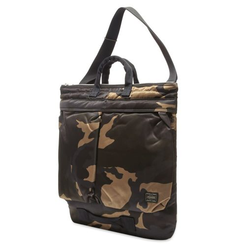 Mens Porter Yoshida & Co Helmet Tote Bag in Counter Shade Camo