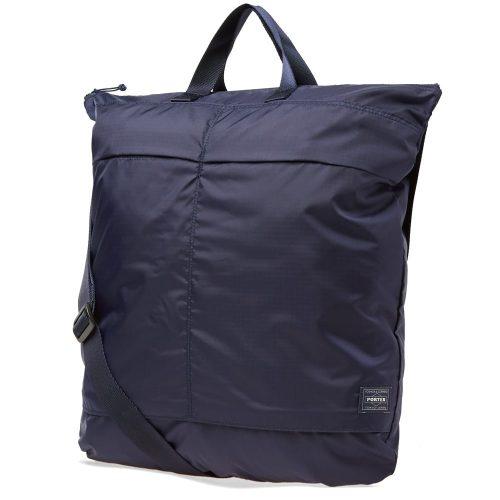 Mens Porter Yoshida & Co Flex 2Way Duffel Bag in Navy