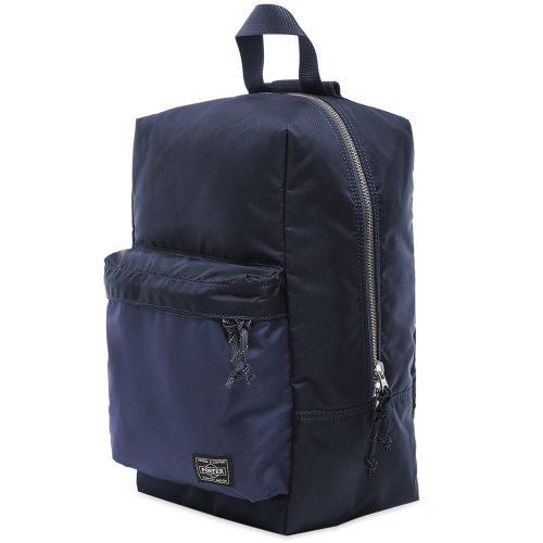 Mens Porter Yoshida & Co Force Sling Shoulder Bag in Navy Blue
