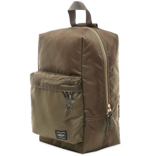 Mens Porter Yoshida & Co Force Sling Shoulder Bag in Olive Green