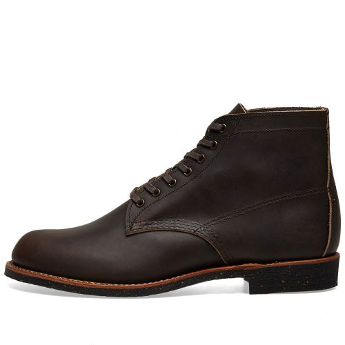 "Mens Red Wing 8061 Heritage Work 6"" Merchant Boots in Ebony Black"