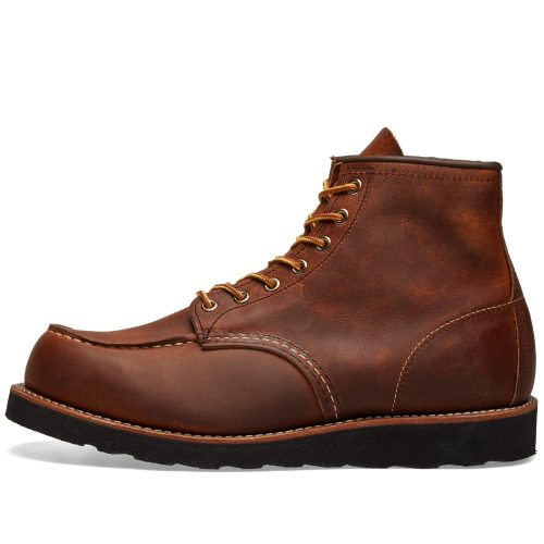 "Mens Red Wing 8886 Heritage Work 6"" Moc Toe Boots in Copper Brown"