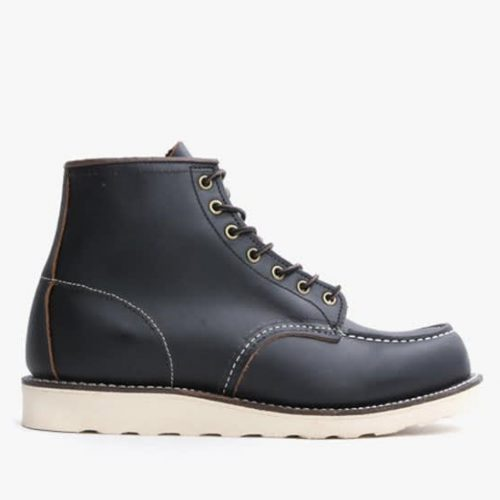 Mens Red Wing Classic Moc Toe Boots in Black Prairie