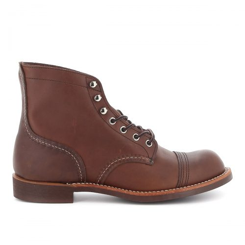 Mens Red Wing Iron Ranger Boots in Brown Amber Harness