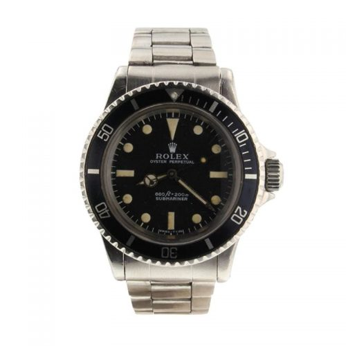 Mens Rolex 1969 Pre-owned Submariner 40mm Stainless Steel Watch Black