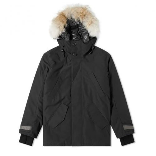 Mens Canada Goose Black Label Edgewood Parka Jacket in Black