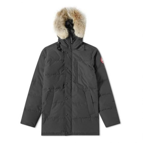 Mens Canada Goose Carson Parka Jacket in Black