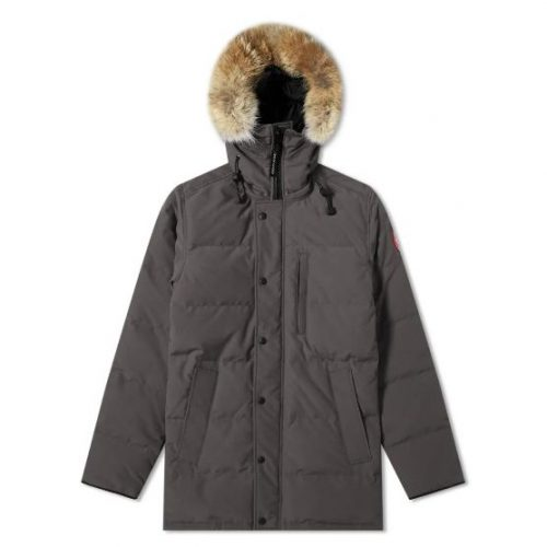 Mens Canada Goose Carson Parka Jacket in Graphite Grey