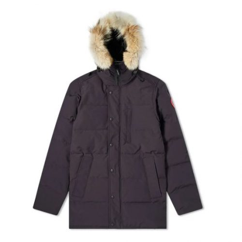 Mens Canada Goose Carson Parka Jacket in Navy