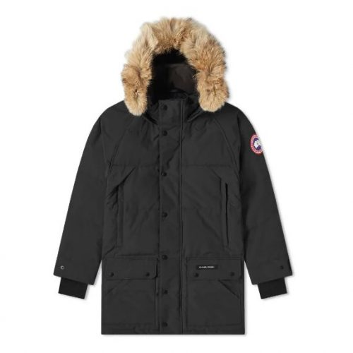 Mens Canada Goose Emory Parka Jacket in Black