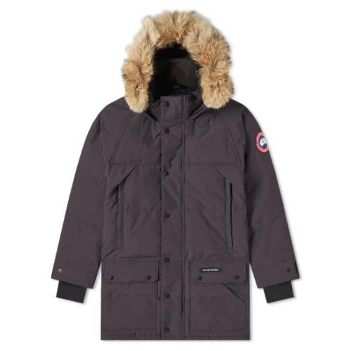 Mens Canada Goose Emory Parka Jacket in Navy