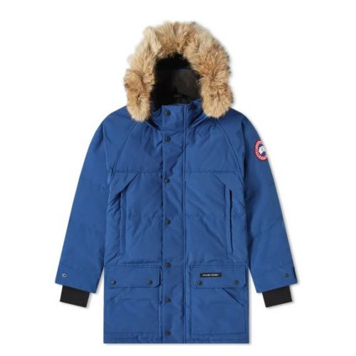 Mens Canada Goose Emory Parka Jacket in Blue