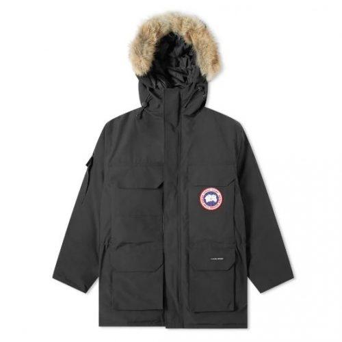 Mens Canada Goose Expedition Parka Jacket in Black