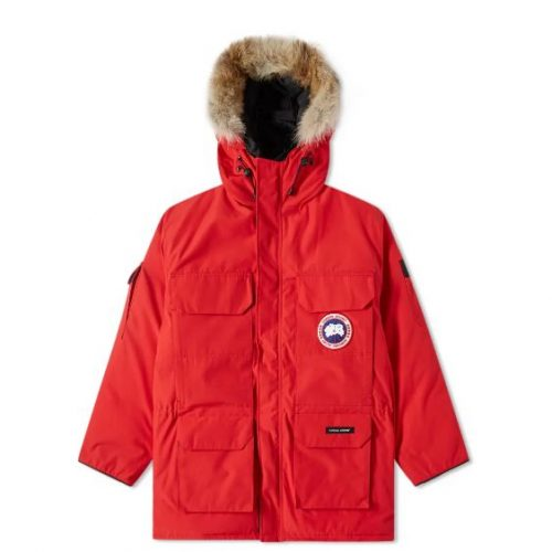 Mens Canada Goose Expedition Parka Jacket in Red