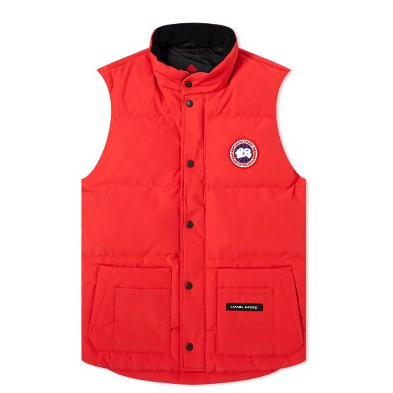 Mens Canada Goose Freestyle Vest Jacket in Red