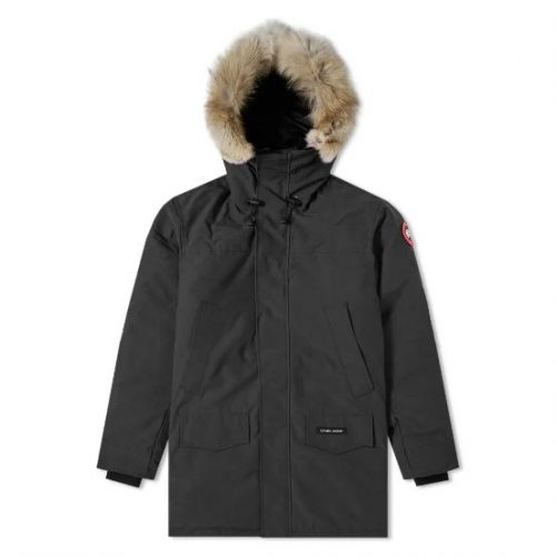 Mens Canada Goose Langford Parka Jacket in Black