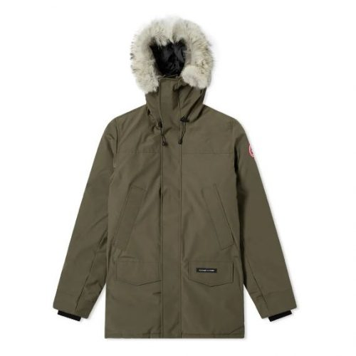 Mens Canada Goose Langford Parka Jacket in Military Green