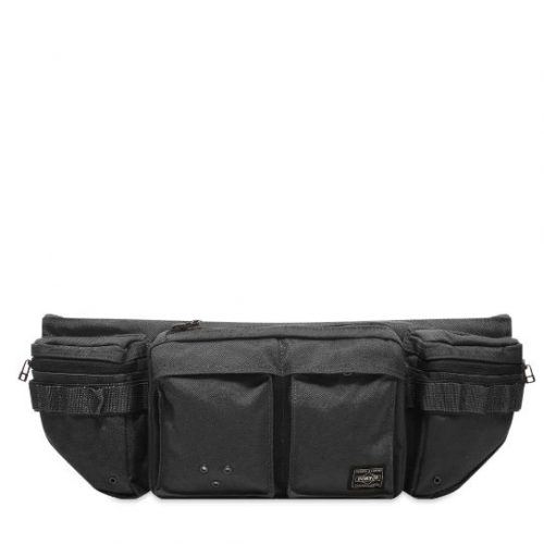Mens Porter Yoshida & Co Waist Bag in Black