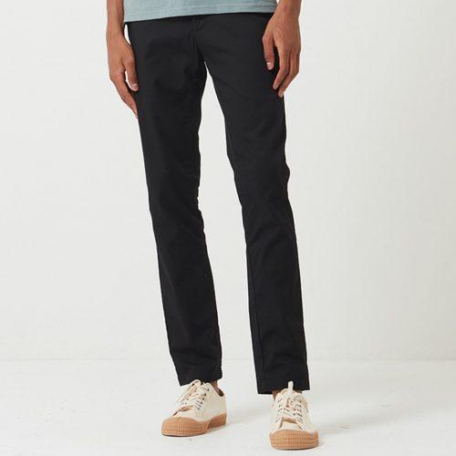 Mens Carhartt WIP Sid Pant Chino Trousers (Stretch Poplin) in Black