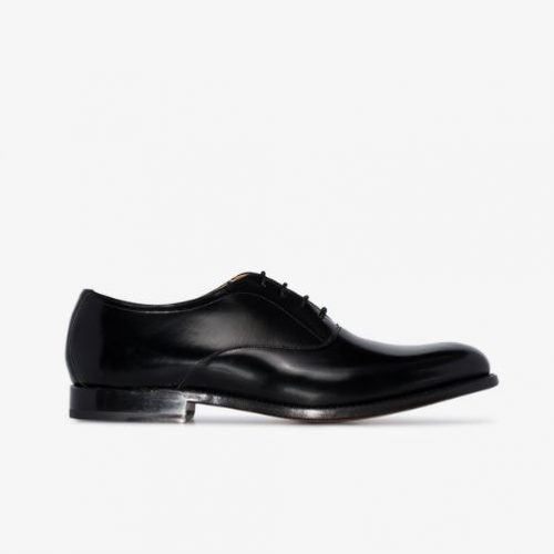 Mens Grenson Alwin Leather Oxford Shoes in Black
