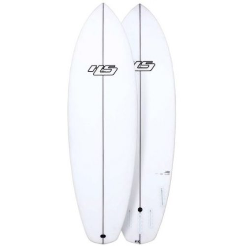Mens Haydenshapes Loot PU / Comp Stringer Futures 5'8 Surfboard with model logo in White