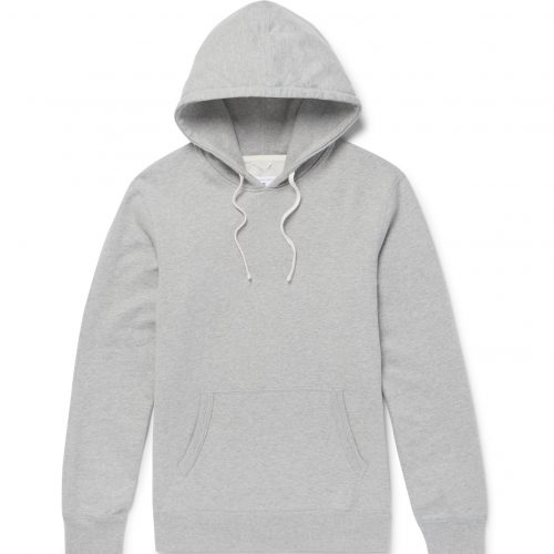 Mens Reigning Champ Loopback Cotton-jersey Hoodie in Grey