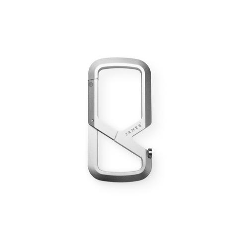 Mens The James Brand The Mehlville Carabiner Keyring in Silver