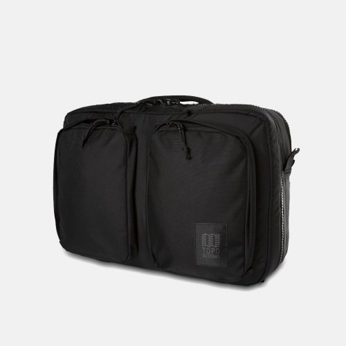 Mens Topo Designs Global Briefcase Bag (3-Day) in Ballistic Black
