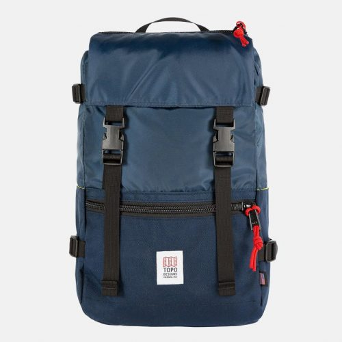 Mens Topo Designs Rover Pack Backpack in Navy Blue