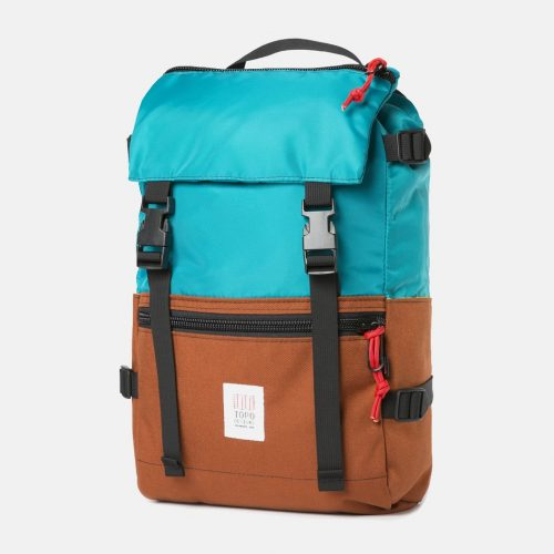Mens Topo Designs Rover Pack Backpack in Turquoise Blue