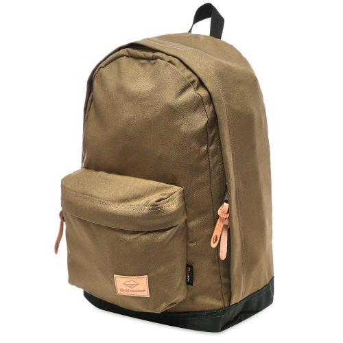 Mens Battenwear Battenpack Backpack in Natural Green