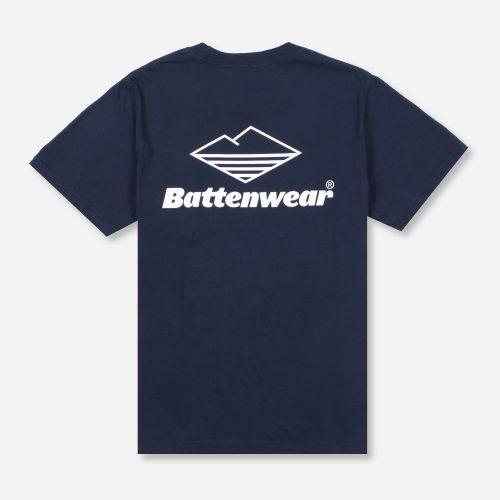 Mens Battenwear Team Pocket T-Shirt in Navy