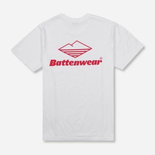 Mens Battenwear Team Pocket T-Shirt in White