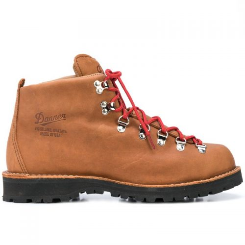 Mens Danner Mountain Light Boots in Brown Leather